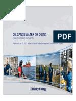 Oil Sands Water de Oiling