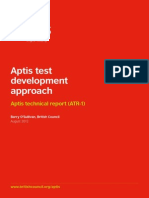 Aptis Test Dev Approach Report
