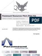 Paramount Resources Pitch - FINAL