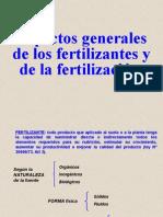 Aspectos Grales Sobre Fertilizantes y Fertilizacion