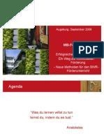 Fortbildung SOL Wirtschaft Sept 2009