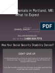 Social Security Disability Denials in Portland, ME