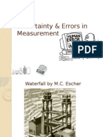 Uncertainty & Errors in Measure