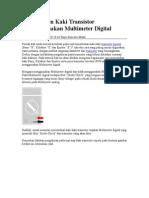Menentukan Kaki Transistor Menggunakan Multimeter Digital