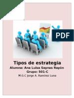 TIPO DE ESTRATEGIA REAL