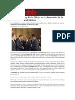 05-02-2015 Sexenio Puebla - Moreno Valle y Peña Nieto en Aniversario de La Constitución Mexicana