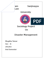 Sociology Project On Disaster Management