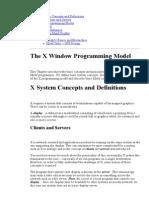 The X Window Programming Model