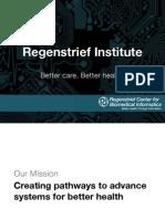 2015 02 06 - Overview of Regenstrief