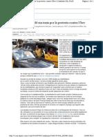 Barcelona Se Quedó Sin Taxis Por La Protesta Contra Uber