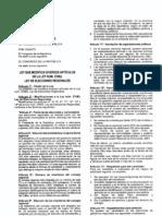 Ley N° 29470- Modificaciones a la Ley de Elecciones regionales N°26783