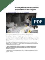 61 Cuerpos Descompuestos Son Encontrados en Crematorio Abandonado de Acapulco