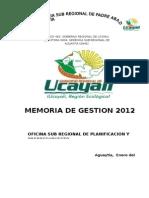 Memoria de Gestion 2013
