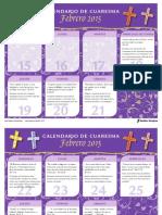 Sadlier Calendario Cuaresma 2015