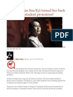 Has Aung San Suu Kyi Turned Her Back on Burma's Student Protesters