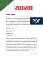 Canon company- INTERNET MARKETING