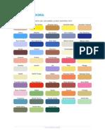 Carta de Colores Anypsa Htp