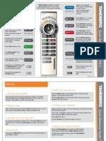 Tandberg Trc4 Remote Control Quick Reference Guide