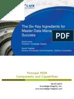 Six Key Ingredients for MDM Success