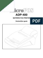 micropos ADP 400 user manual croatian