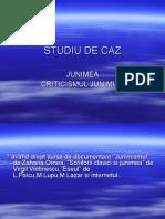 Studiu de Caz, Junimea, Criticismul Junimist