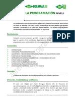 CU00101A Ficha Curso Bases Programacion Aprender a Programar Nivel i