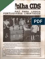 Folha CDS, nº 284 - 14 de Abril de 1982