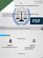 La justice internationale et le developpement de droit humain.pptx