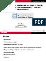 Normatividad y Herramientas Para El Diseño de Anclajes Post Instalados y Nuevas Tecnologías