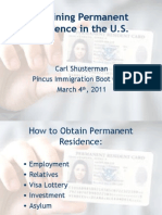 Obtaining Permanent Residence in the US