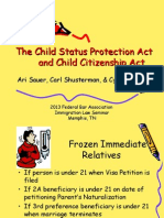 The Child Status Protection Act and Child Citizenship Act