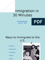 US Immigration in 30 Minutes