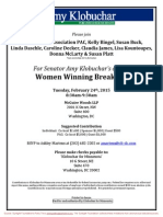 Women Winning Breakfast for Amy Klobuchar