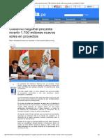 06-02-2015 GOBIERNO REGIONAL PROYECTA INVERTIR 1,700 MILLONES NUEVOS SOLES EN PROYECTOS