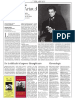 Le Monde Des Livres - Artaud (17 Nov 2006)