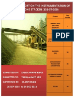 Instrumentation of Stacker (Storage Area Cement Plant)