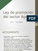 Ley de Promocion Del Sector Agrario
