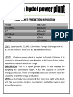 chashma hydro power plant internship report