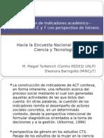 Presentación Esocite/ Indicadores Ciencia - Género