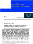 Conflict of Interest-Disclosure-Disqualification CJP Judge Disciplinary Decisions