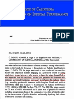 Conflict of Interest-Disclosure-Disqualification CJP Judge Disciplinary Decisions