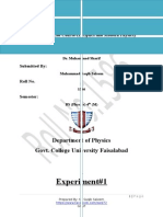 lab Manual and lab report(Optics and Modren physics)