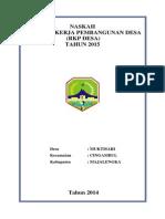 RKPDes Muktisari 2015
