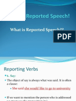Reported Speech! CAE 1