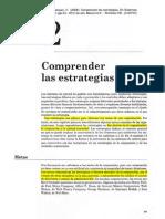 COMPRENDER LAS ESTRATEGIAS