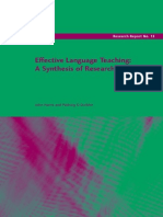 Effective Language Teaching a Synthesis of Research