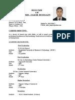 Personal Resume of Jakir.doc