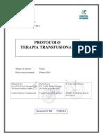 Protocolo Terapia Transfusional. 4ª Edición