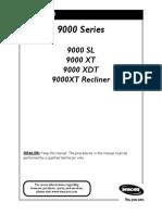Invacare 9000 Series user Manual