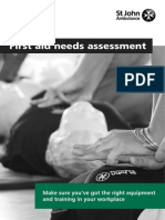 First Aid Needs Assessment